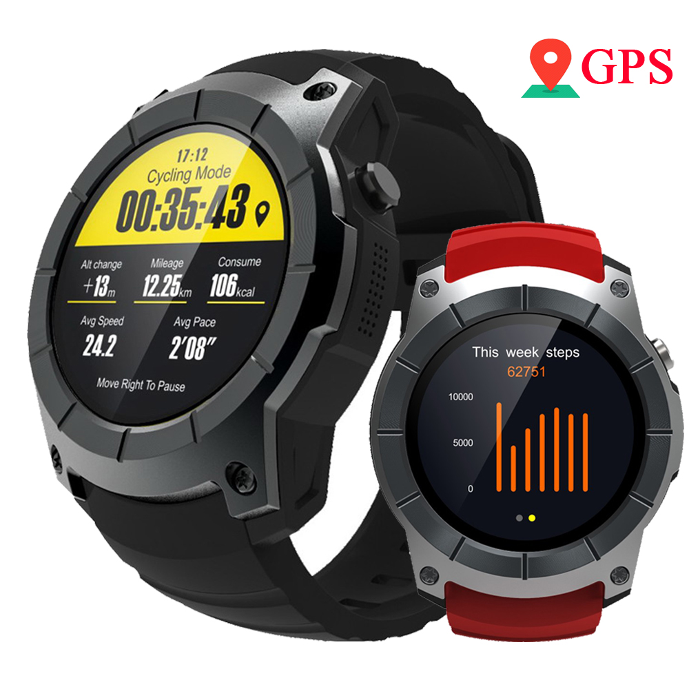 RUIJIE GPS Smart Watch S958 Pedometer Fitness Tracker Heart Rate Monitor Smartwatch Sports Waterproof Watch Support SIM TF Card
