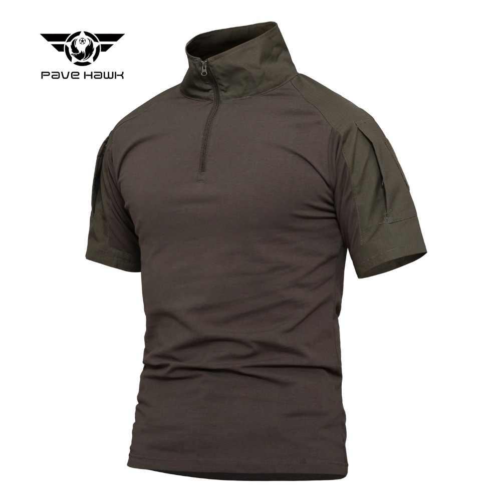 Camo ordu t shirt erkekler açık avcılık kamp trekking yürüyüş bez erkekler erkekler savaş taktik askeri kısa kollu erkek üstleri t-sh