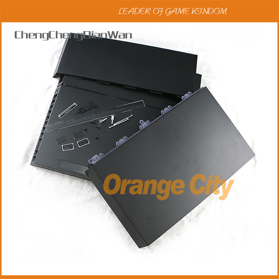 ChengChengDianWan Black Full Housing Shell Case With Screws Repair Parts For Ps4 1200 Console