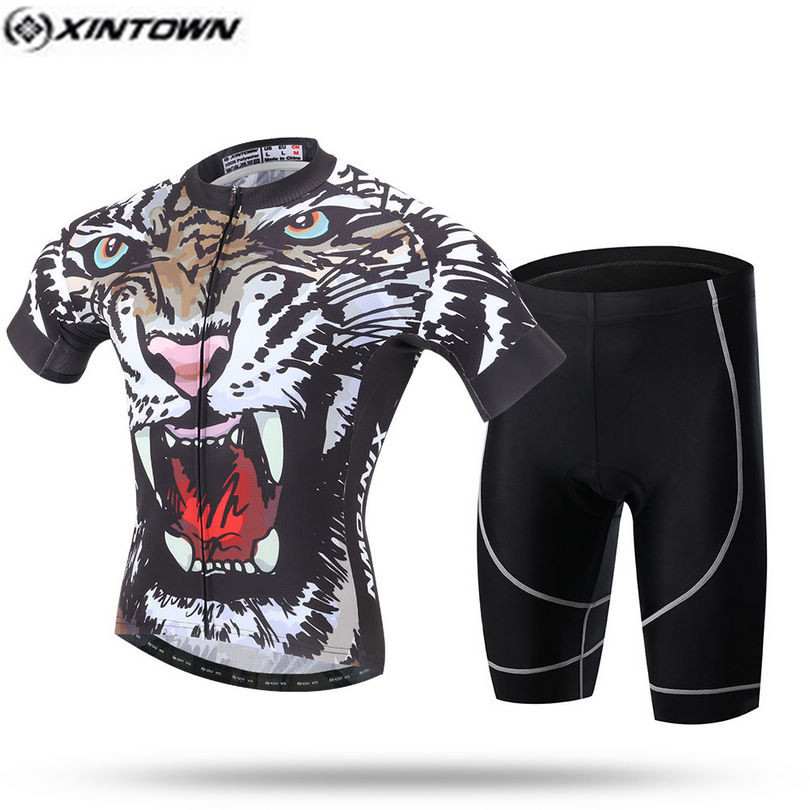 XINTOWN Pro Bike Jersey Bib Shorts Sets Men mtb Bicycle Clothing Suits Cool  Animal Black Male Ropa Ciclismo Cycling Shirts 32e93a7eb
