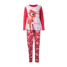 4ece7ca321f9 2018 New Fashion Cartoon Brand Christmas Family Matching Clothes Men Women  Baby Kids Fox Sleepwear Home
