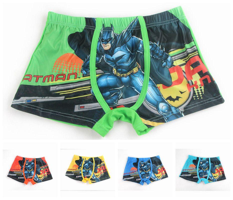Children/'s Underwear Novelty//Cartoon Batman Cotton Boxer Briefs Kids Close Model