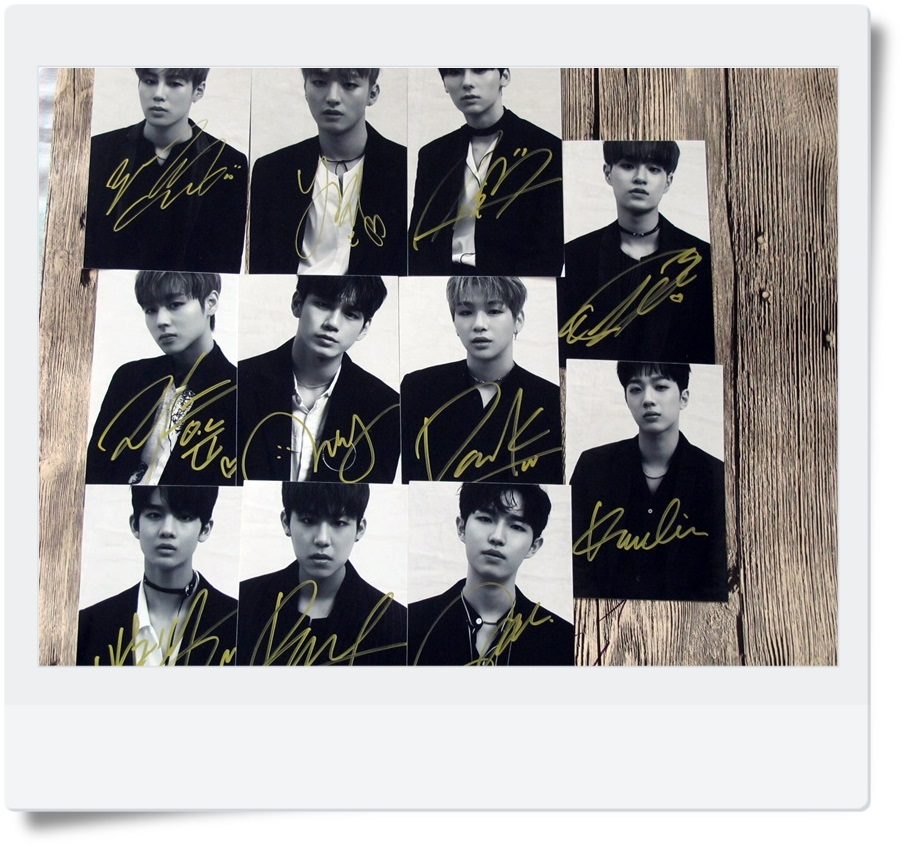 signed WANNA ONE autographed photo 4*6 inches  freeshipping 11 photos set 072017  B version signed cnblue jung yong hwa autographed photo do disturb 4 6 inches freeshipping 072017 01