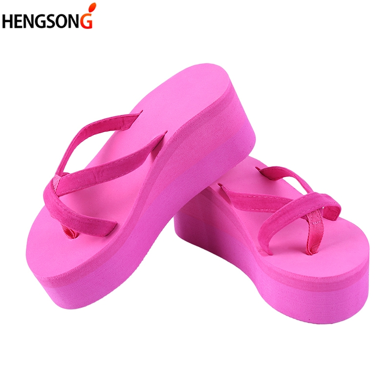 Summer Women Sandals Fashion Slope Thick Crust Muffin Summer Sandals Wedges Flip Flops Lace-Up Platform Slippers Shoes Female
