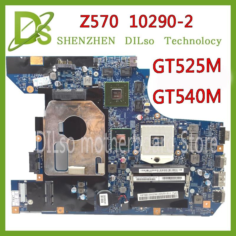 KEFU 10290-2 48.4PA01.021 LZ57 MB originale carte mère pour Lenovo Z570 mère D'ordinateur Portable Z570 carte mère GT540M/GT525M Test
