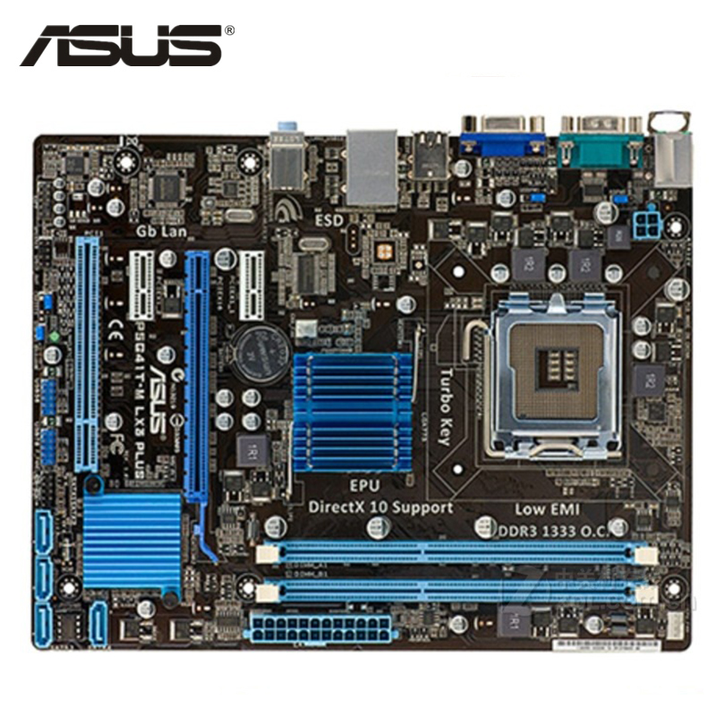 ASUS P5G41T-M LX3 Plus Motherboard LGA 775 DDR3 8GB For Intel G41 P5G41T-M LX3 Plus Desktop Mainboard Systemboard SATA II Used цена