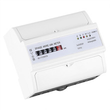 цена на Digital 3-phase 4 Wire DIN-Rail Energy Meter 20(80)A Electronic KWh Meter