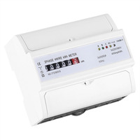 Digital 3 phase 4 Wire DIN Rail Energy Meter 20(80)A Electronic KWh Meter