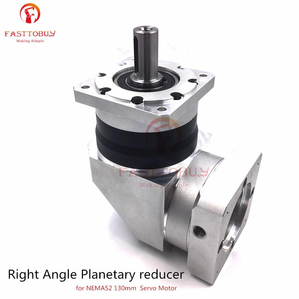 Input Bore 22mm 10 arcm Speed Ratio 4/5/7/10:1 Right Angle Planetary reducer 130mm Servo Gearbox Reducer for NEMA52 Servo Motor цена