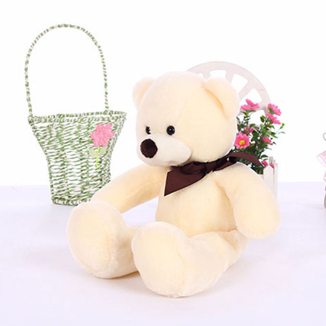 38CM Soft Teddy Bears Plush Toys Stuffed Animals Bear Dolls with Bowtie Kids Toys for Children Birthday Gifts Party Decor