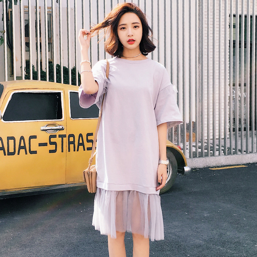 Summer Clothes For Women 2018 Korean Style Casual Loose Ruffles Mesh