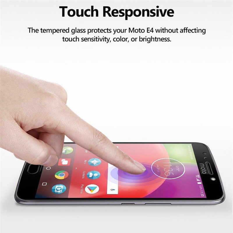 واقي للشاشة من الزجاج المقسى للدراجات النارية G5S Plus Z2 Force غطاء كامل ملحقات الهاتف المحمول فيلم الزجاج ل Moto G6 Play E5