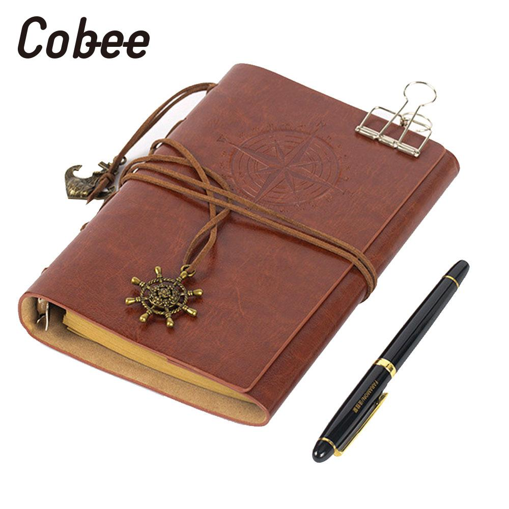 Retro Diaries Journals Notebook Blank Paper Leather Pocket Notebooks Hardback Cover Diary Planner Handy Memo Folder Documents