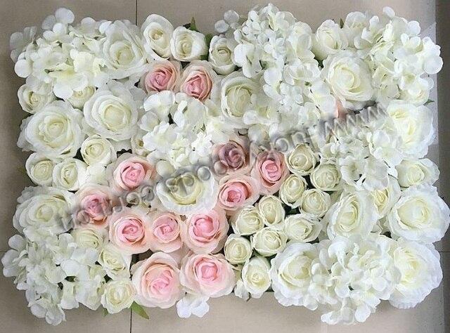 20 Sztuk ścienne Kwiaty Sztuczne Kwiaty ślubne Białe W 20 Sztuk