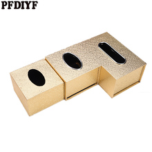 PFDIYF Универсальная роскошная Европейская стильная тканевая коробка для дома, офиса, отеля, автомобиля, коробка для салфеток для лица, чехол, держатель, золотой, серебряный цвет