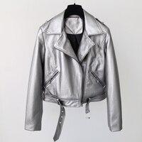 Avrupa ve amerikan tarzı kadın biker hava deri ceket marka tasarımcısı motos ceketler kadın slim fit kadınlar clothing serin c848
