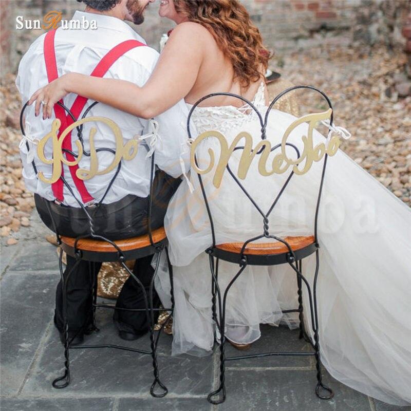 2 шт./компл. я делаю мне слишком простовато свадьба знак идеи декора стулья висят знаки Mariage вечерние украшения из дерева Свадебные украшения
