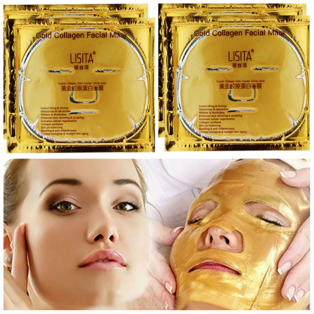1Pc Gold Plant Collagen Vitamin Facial Mask Moisturizing