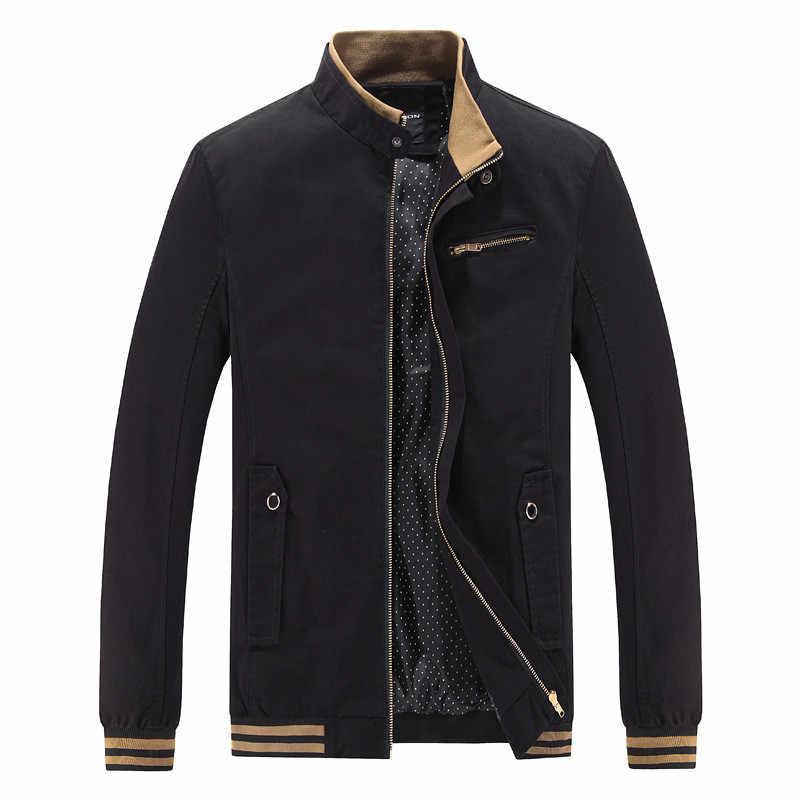 ジャケット男性因果綿ウインドブレーカーロングジャケットメンズ軍事生き抜くフライトジャケットプラスサイズ 4XL 男性のトレンチポケットコート