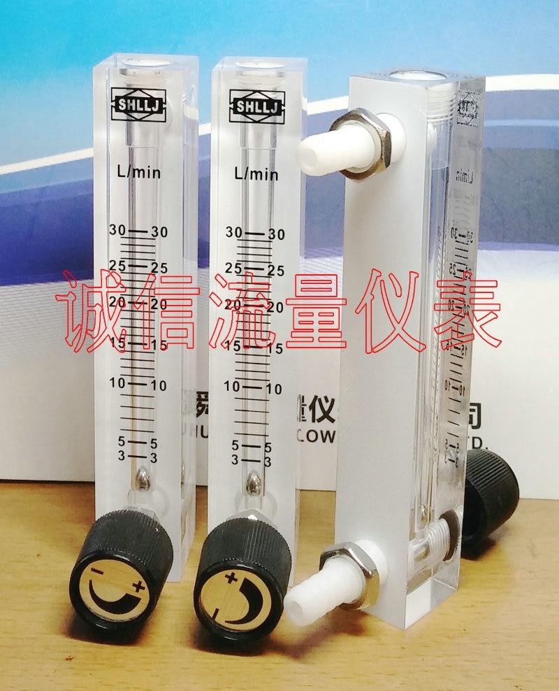3-30л/мин LZQ-7 Регулируемая панель газ указатель расхода кислорода Поплавковый расходомер