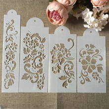 Buy Hot 4Pcs/Set 27.5cm Flower DIY Layering Stencils Wall Painting Scrapbook Coloring Embossing Album Decorative Card Template directly from merchant!