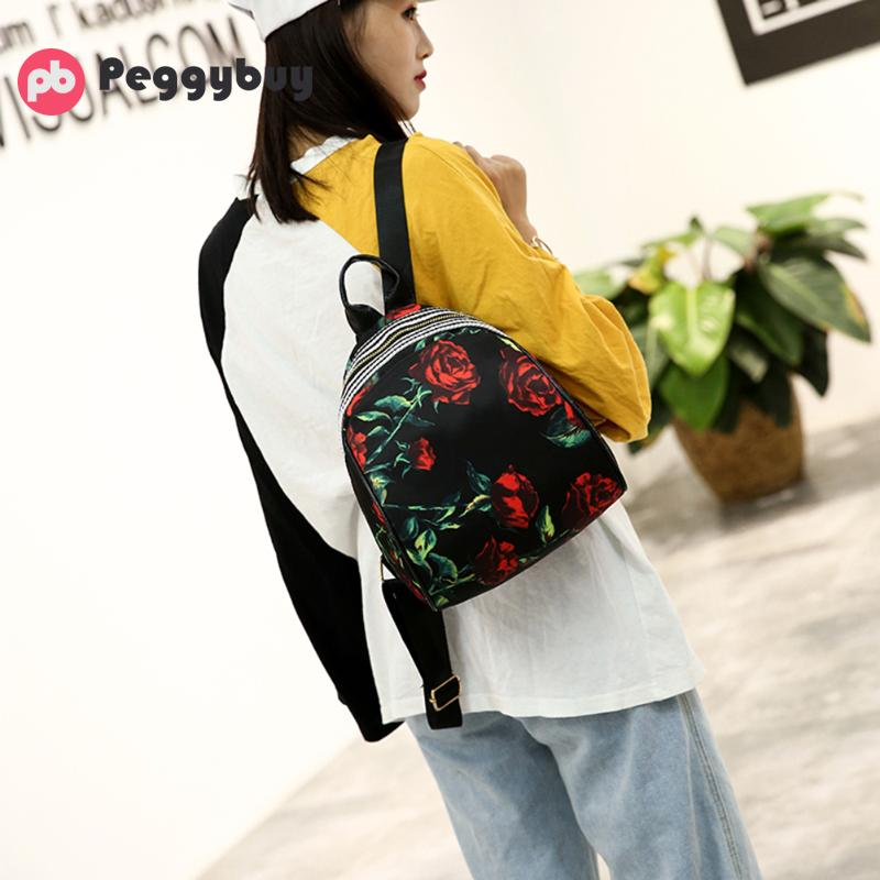 4dfcb7885f4f Women Leather Backpack Flower Floral Backpacks For Teenage Girls Small  Printing Backpack Female Schoolbag Rucksacks For Girls Tags