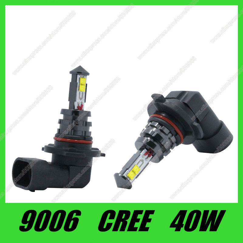 HB3 9006 9005 Led Bulb 40W High Power Ultra Bright HB3 LED Car Fog lamp Fog Light 720LM White car light source Free Shipping 2pcs 20w 4led hb3 9005 hb4 9006 h10 bulb car fog light car headlights lamp bulbs white 6000k dc12v 24v