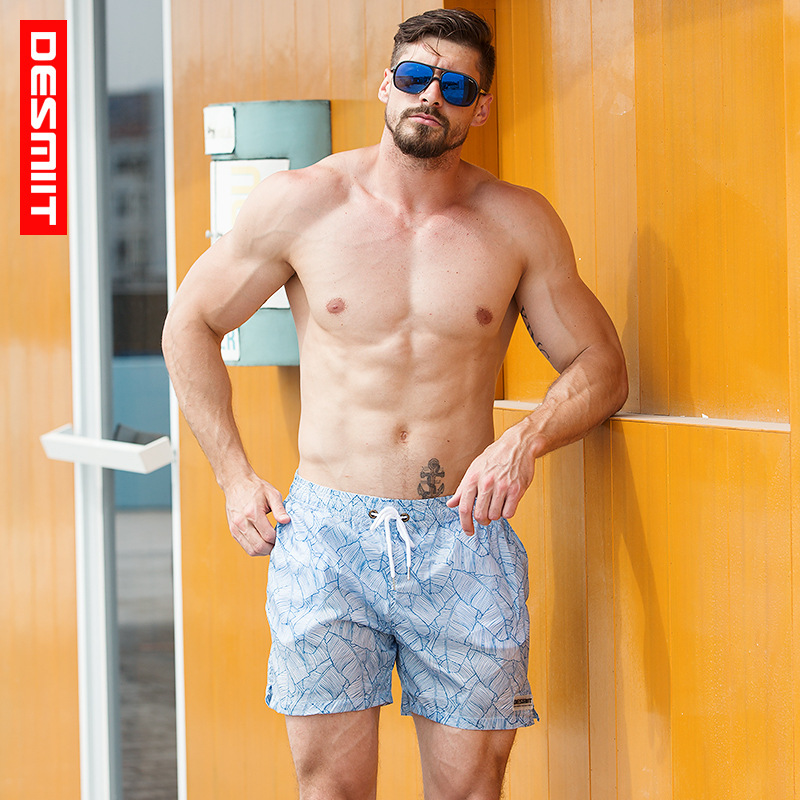 2019 brand DESMIIT Untra-thin   Board     shorts   Swim   Shorts   Semi Transparent Mens Swimwear Swimming Trunks Lined Surfing Beach   Short