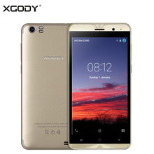 XGODY X22 3G Unlock Dual Sim Card Touch Mobile Phone MT6580M Quad Core 1G+8G Smartphone 5.0 Inch Android 5.1 Cellphone 2000mAh