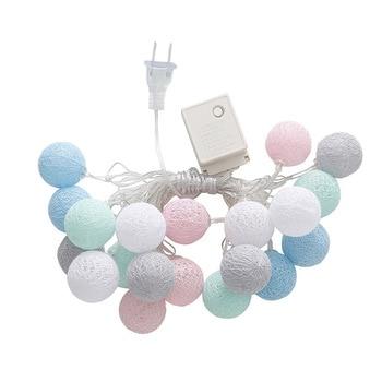 3.55 m 20 LEDs String światła nić bawełniana kulki dekoracji domu lampy dla Wedding Party US/ue wtyczka WWO66