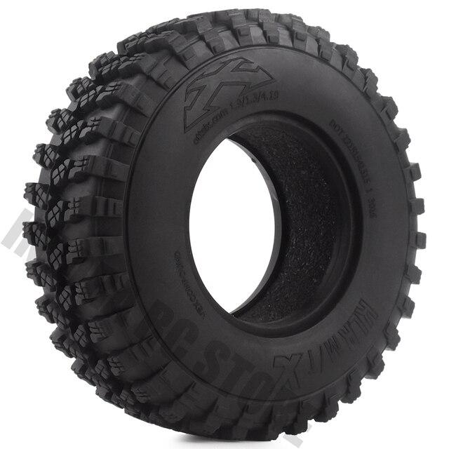 Pneus en caoutchouc de 1.9 pouces 105x35mm, ensemble de 4 pièces, pneus de voiture pour camion à chenilles RC 1/10, vodoo KLR Axial SCX10 90046 90047 AXI03007 RC