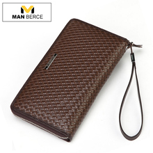 MANBERCE Cowhide Man Wallet Brand Mens Wallet Leather Genuine Men Clutch Bags Purses And Handbags Business Casual Wallets
