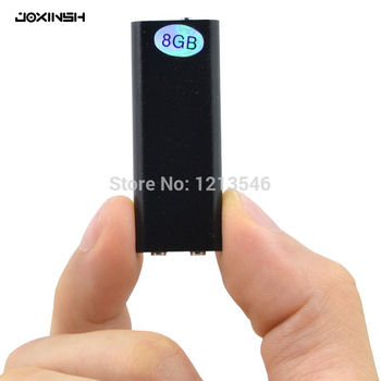 Global más pequeño 8 GB/16 GB grabadora de voz profesional Digital Mini Audio dictáfono + MP3 jugador + USB Flash Drive gravador de voz