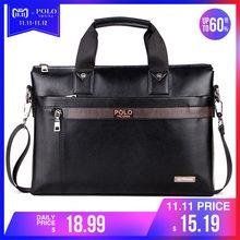 2e1ef2998ef9b VIKUNJA POLO Top Verkauf Mode Einfache Dot Berühmte Marke Business Männer  Aktentasche Tasche Leder Laptop Tasche Casual Mann Tas.