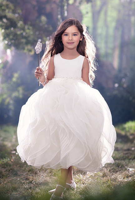 35d842c47 2016 very hot white flower girl dress party and wedding transparent gauze  children dress girl beauty