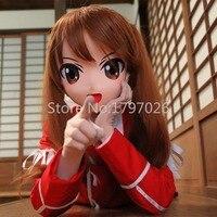 (N03)Handmade Kigurumi Mask Silicone Rubber Full Face Japanese Anime Cartoon Character Cosplay Kigurumi Masks Crossdresser