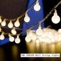 10 М светодиодные строки огни 100led мяч AC220V 110 В праздник свадьба патио украшения лампы Фестиваль Рождественские огни наружное освещение