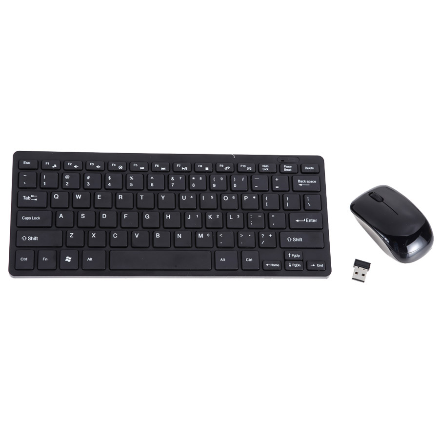 Slim 2.4G Wireless Keyboard and Mouse Keyboard Protective Cover Keyboard Mouse Optical f ...