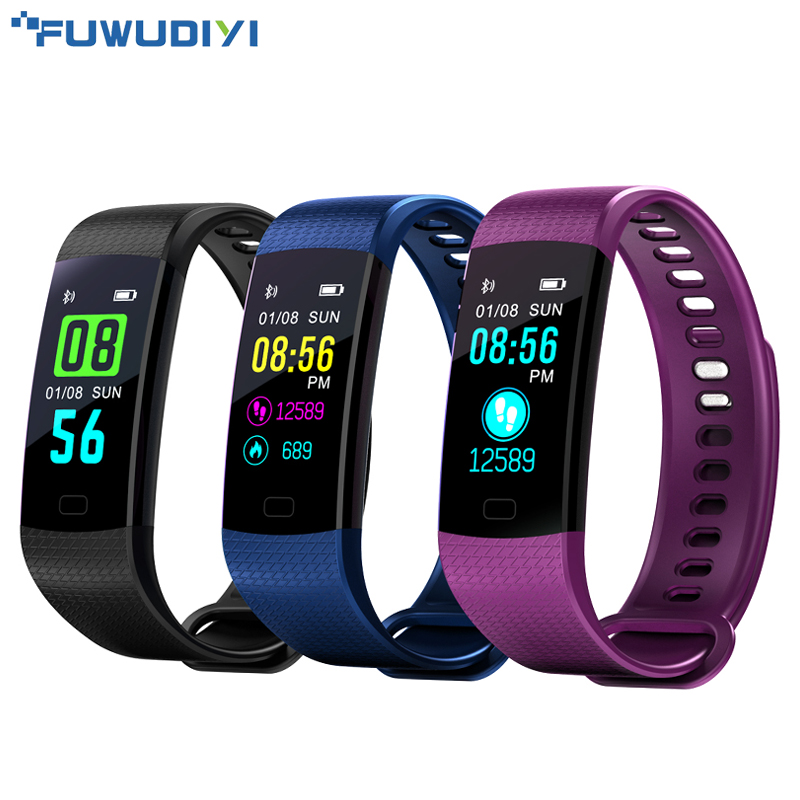 FUWUDIYI Y5 Fitness Bracelet Smart Wristbands Heart Rate Monitor Blood Pressure Fitness Tracker Smart Bracelet Color Screen Band goral y5 smart bracelet 0 96 inch tft color screen