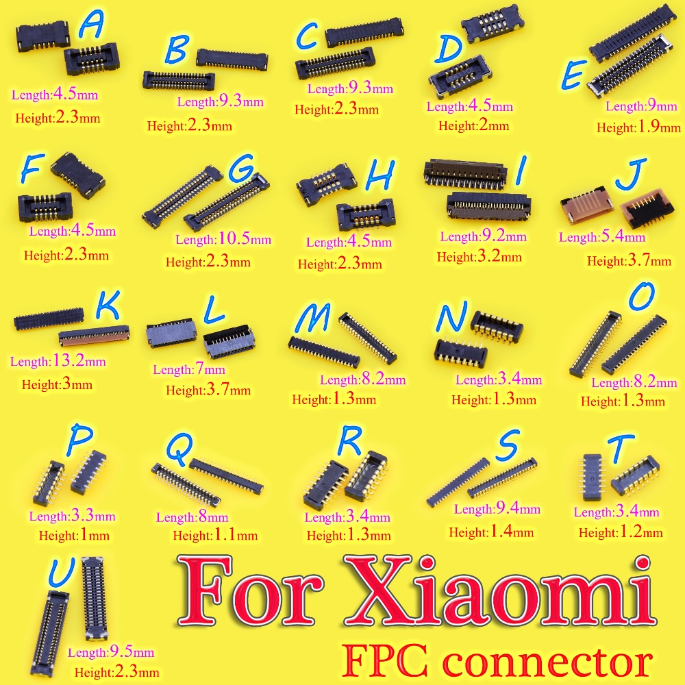 2pcs Brand new LCD FPC connector/Touch <font><b>motherboard</b></font> FPC connector/display <font><b>motherboard</b></font> FPC For Xiaomi 2/3/<font><b>4</b></font>/<font><b>Note</b></font> for <font><b>Redmi</b></font> <font><b>Note</b></font> image