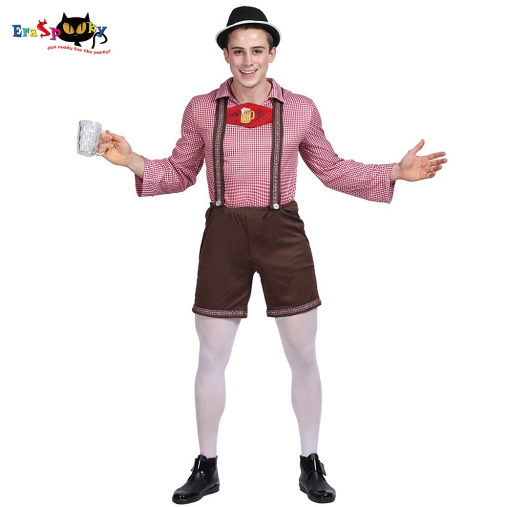 Men Oktoberfest Costume Adult Lederhosen Outfit Beer Festival Costume For Men Carnival Bavarian German Beer Costume Fancy Dress