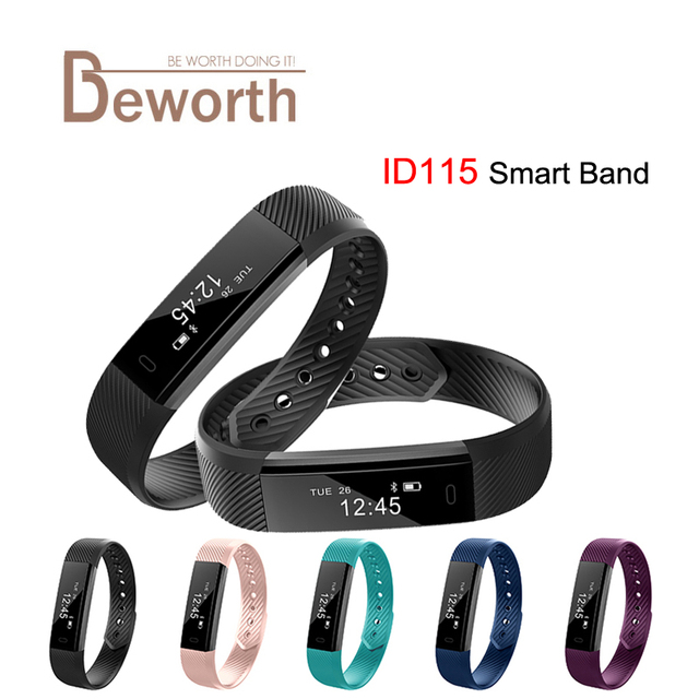 SmartBand id115 умный Браслет Фитнес трекер шаг счетчика активности Мониторы группа вибрации браслет PK fitbits mi Группа 2 ID107