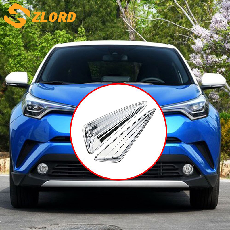 Zlord voiture pour Toyota C-HR CHR C HR 2016 2017 2018 Chrome avant feu de brouillard antibrouillard couverture garniture voiture protéger accessoires