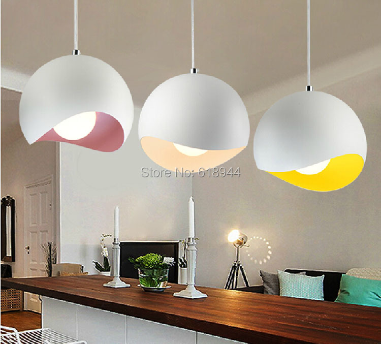 Us 39 0 Colourful Dining Room Pendant Lights Modern Designer Metal Lamps Nordic Creative In From Lighting