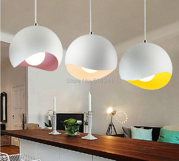 Designer pendant lighting Coffee Shop Colourful Dining Room Pendant Lights Modern Designer Metal Pendant Lamps Nordic Creative Lights Aliexpress Colourful Dining Room Pendant Lights Modern Designer Metal Pendant