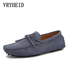 VRYHEID Big Size 38~49 High Quality Suede Leather Men Shoes Soft Moccasins Loafers Leisure Men Flats fashion Comfy Driving Shoes цены онлайн