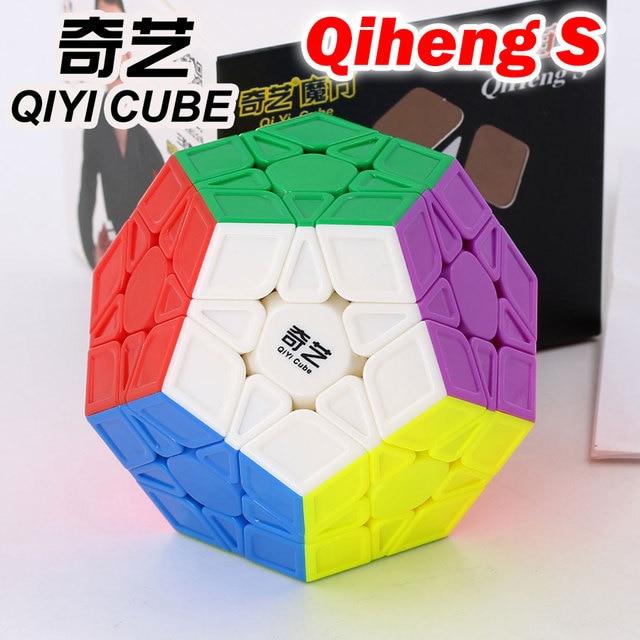 マジックキューブパズル qiyi xmd qiheng s megaminxeds megamin × ラベルなしプロ面体 12 辺スピードキューブおもちゃゲーム