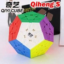 매직 큐브 퍼즐 qiyi xmd qiheng s megaminxeds megamin x 스티커없는 전문 12 면체 12 사이드 스피드 큐브 완구 게임