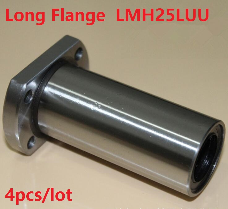 4pcs/lot LMH25LUU 25mm 25*40*112mm long Oval Flange linear motion ball bearings bushings CNC router parts 25x40x112mm