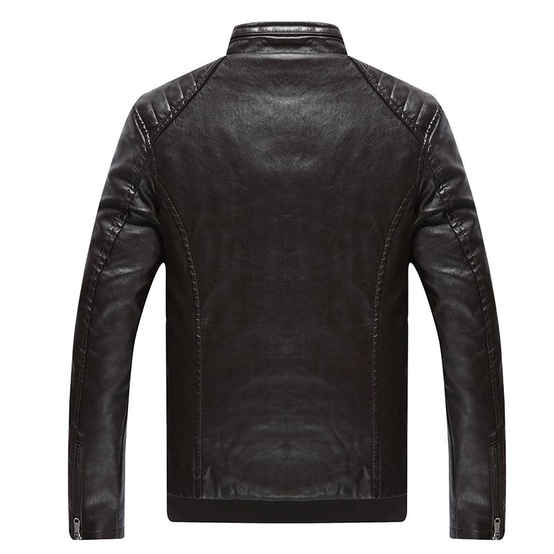 Ardhja e re 2016 Vjeshtë dhe dimër në modë PU xhaketë lëkure PU - Veshje për meshkuj - Foto 5